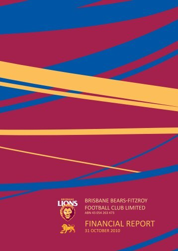 FinanCial report - Brisbane Lions