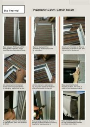 Eco Thermal Surface Mount Fitting Instructions - Merit Blinds