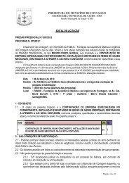 PREFEITURA DO MUNICÍPIO DE CONTAGEM EDITAL DE ...