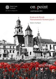 Jones Lang LaSalle published its latest research Krakow city report ...