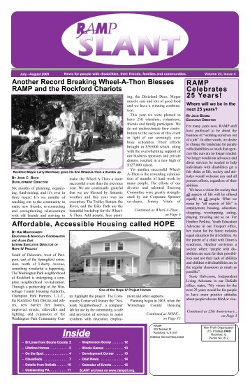 Volume 23, issue 4 - RAMP Center for Independent Living