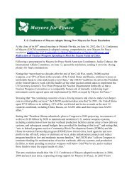 U.S. Conference of Mayors Adopts Strong New Mayors for Peace ...
