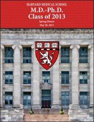 MD-Ph.D. Class of 2013 - Harvard Medical School - Harvard University