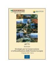 Strategie per la conservazione e la ricostituzione delle ... - Ambiente