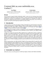 Comment bâtir un cours multimédia avec LimSee3 ? - Grenoble