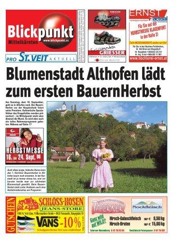 Blumenstadt Althofen lädt zum ersten BauernHerbst