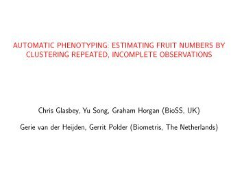 AUTOMATIC PHENOTYPING: ESTIMATING FRUIT NUMBERS BY ...