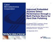 Improved Embedded Alumina Defect Performance through a Multi ...