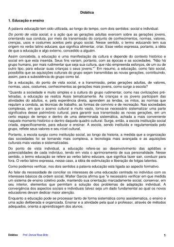 Didática e Filosofia - Drb-assessoria.com.br