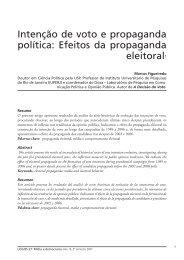 Intenção de voto e propaganda política: Efeitos da ... - Logos - UERJ