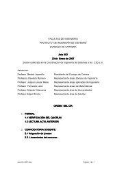 FACULTAD DE INGENIERÍA PROYECTO DE INGENIERÍA DE ...
