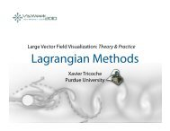 Lagrangian Methods - IDAV