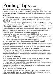 Printing Tips(English)