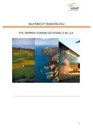 Relatório primeiro trimestre 2012 - ETE