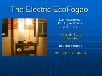 The Electric EcoFogao - BioEnergy Discussion Lists