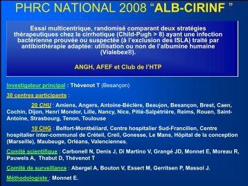 "Etude ""ALB-CIRINF » - Afef"