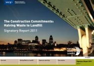 Halving Waste to Landfill Signatory Report 2011 - Wrap