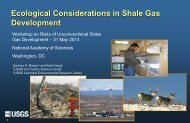 Ecological Considerations in Shale Gas Development--Powerpoint