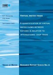 Virtual water trade - Water Footprint Network