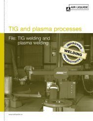 TIG and plasma processes - File - BLUESHIELD