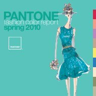 Fashion Color Report Spring 2010 - Pantone