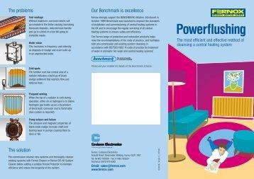 Fernox powerflushing leaflet