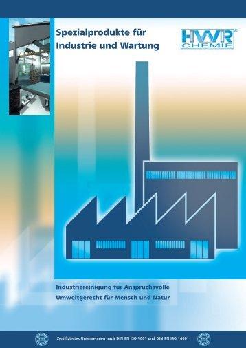 Spezialprodukte für Industrie und Wartung - HWR-CHEMIE GmbH