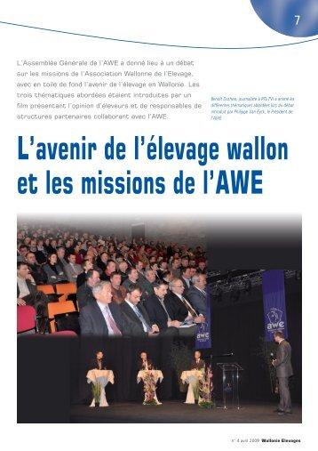 L'avenir de l'élevage wallon et les missions de l'AWE