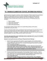 st. theresa elementary school information profile - Windsor-Essex ...