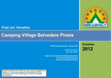Camping Village Belvedere Pineta Frial-Jul. Venetien - Camping.it