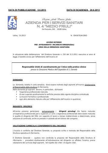 avviso - Medio Friuli
