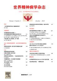 Volume 9, Number 3 October 2010 - World Psychiatric Association