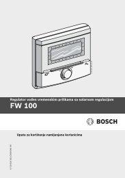 Upute za upotrebu (PDF 0.9 MB) - Bosch toplinska tehnika
