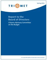 Citizens Advisory Committee Report to the Board of the ... - TriMet