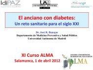 El anciano con diabetes: - Academia Latinoamericana de Medicina ...