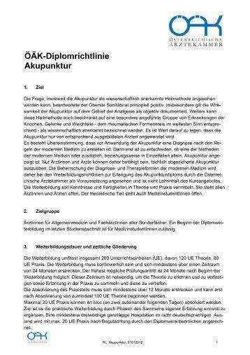 ÖÄK-Diplomrichtlinie Akupunktur - Österreichische Akademie der ...