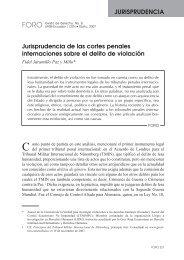 Jurisprudencia de las cortes penales internaciones sobre el delito ...