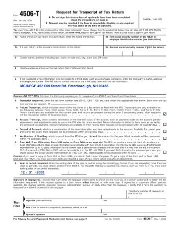 Form 4506 T Rev January 2012 Oregon Lottery