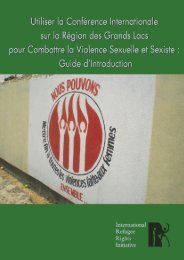 La violence sexuelle et la CIRGL - International Refugee Rights ...