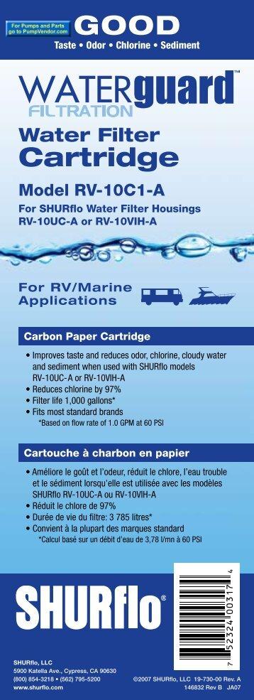 Water Filter Cartridge - SHURflo