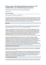 Freiberufler als selbstständig anerkannt - Uhlberg Advisory GmbH