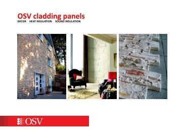 OSV cladding panels - OSV decorative thermal panels