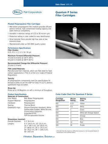 Quantum P Series - Pall Corporation (PLL)