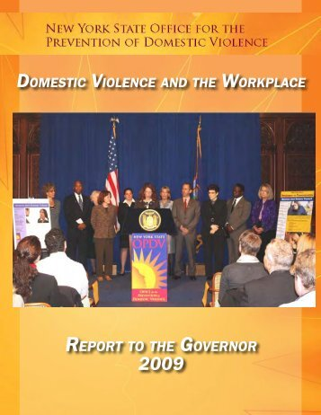 Domestic Violence and the Workplace Report to the Governor 2009