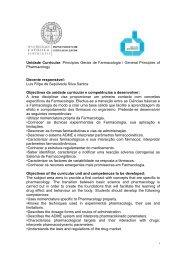 Unidade Curricular: Princípios Gerais de Farmacologia / General ...