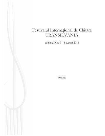 vezi detalii despre festival (.pdf) - Ziua de Cluj