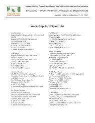 CH Workshop #2 participant list.pmd - Pollution Probe