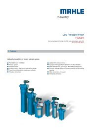 Low Pressure Filter Pi 2000 - MAHLE Industry - Filtration