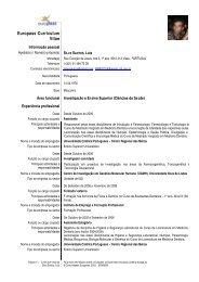 Europass-Curriculum Vitae - Universidade Católica Portuguesa