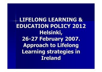Approach to Lifelong Learning strategies in Ireland